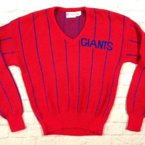 huge selection of f17be c7ae6 VTG 80'S CLIFF ENGLE New York GIANTS SWEATER M